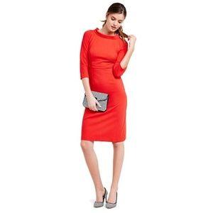 Boden Red Pepper Zoe Ponte Dress Size 8L